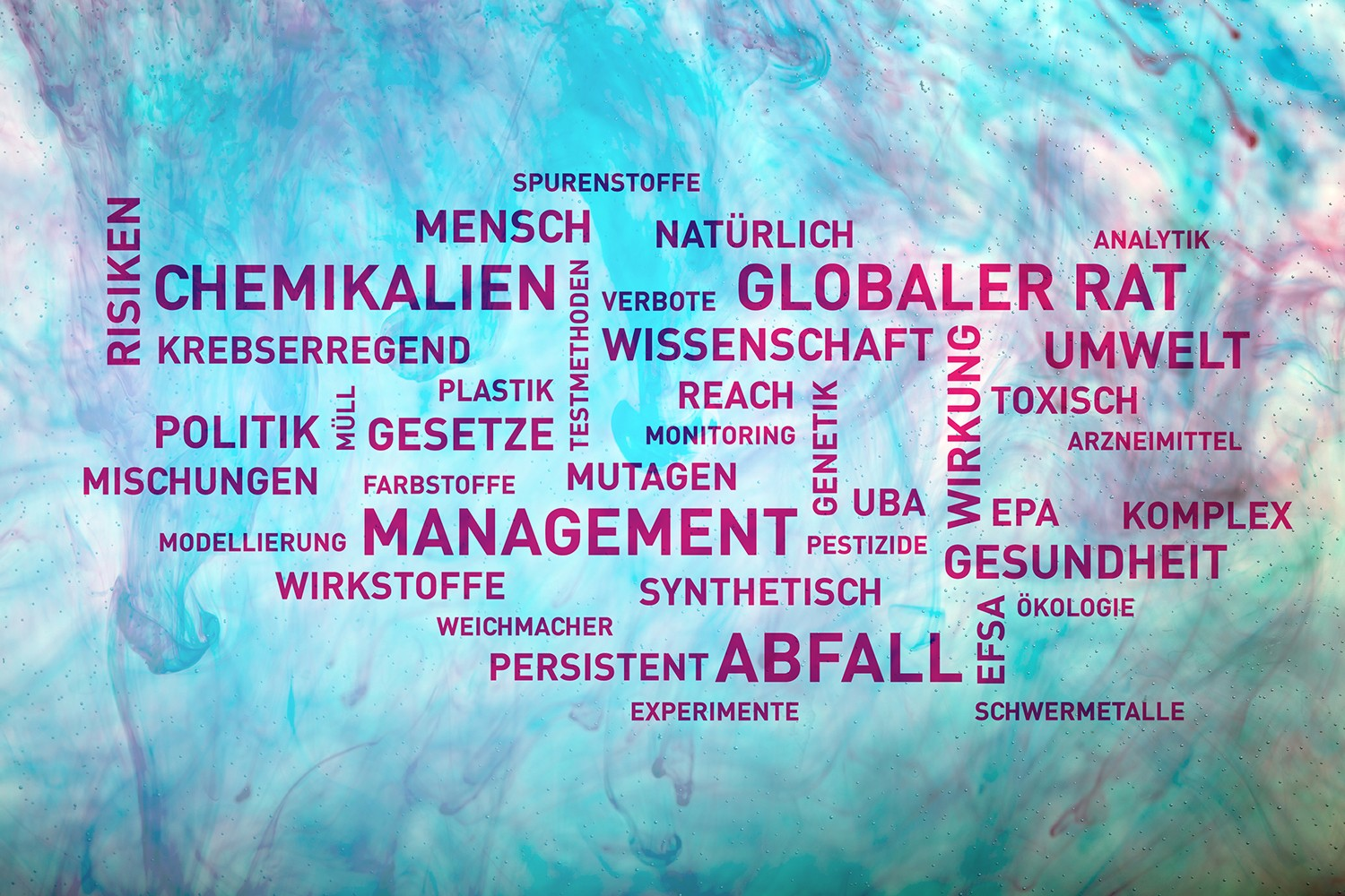 Graphic: Word cloud. Photo: fotolia / graphic: Susan Walter / UFZ